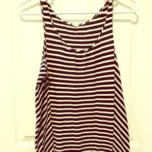 J.Crew Striped Tank Top, small, Black & White